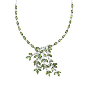 Chrome Diopside Necklace in Sterling Silver 7.82cts