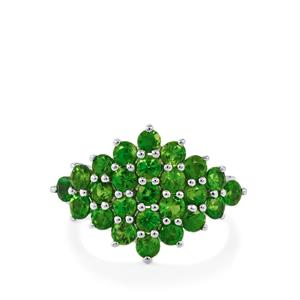 3.05ct Chrome Diopside Sterling Silver Ring