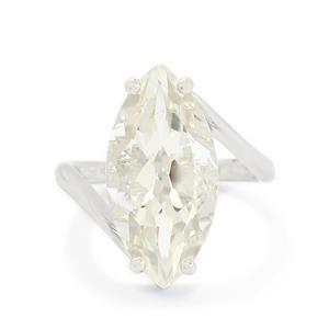 10.10ct White Topaz Sterling Silver Ring