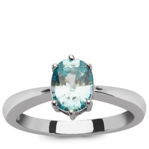 1.88ct Ratanakiri Blue Zircon Sterling Silver Ring