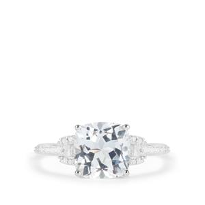 3.81ct White Topaz Sterling Silver Ring