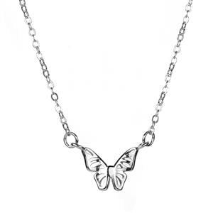 Butterfly Necklace in Sterling Silver 1.51g