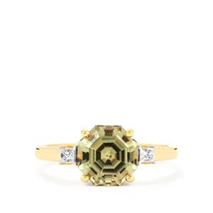 Csarite® Ring with Diamond in 18K Gold 2.58cts