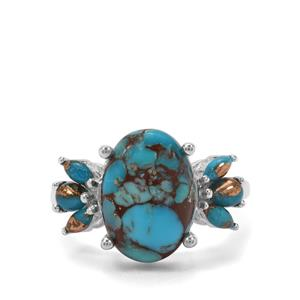 6.08ct Egyptian & Copper Turquoise Sterling Silver Ring