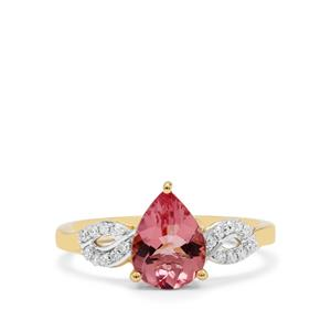 Cherry Blossom™ Morganite Ring with Diamond in 18K Gold 1.40cts