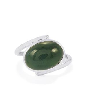 Nephrite Jade Ring in Sterling Silver 7.50cts