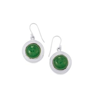 Aventurine Quartz Earrings in Sterling Silver 20.50cts