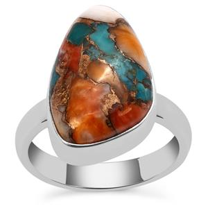 Oyster Turquoise Ring in Sterling Silver 9.54cts