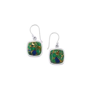 Mojave Azurite Earrings in Sterling Silver 25cts