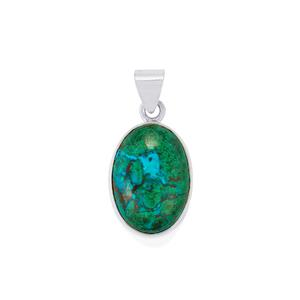 Chrysocolla Pendant in Sterling Silver 24cts