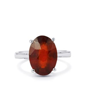 Hessonite Garnet Ring in Sterling Silver 6.85cts