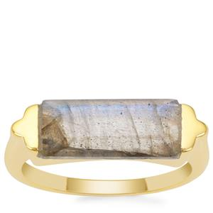 Paul Island Labradorite Ring in Gold Plated Sterling Silver 3.20cts