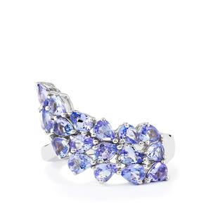 2.36ct Tanzanite Sterling Silver Natura Couture Ring