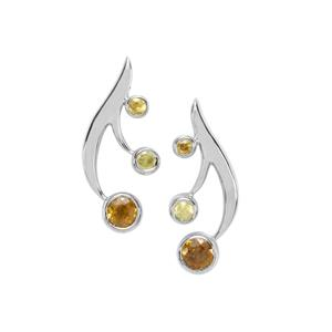 Morafeno Sphene Earrings with Ambilobe Sphene in Sterling Silver 0.66ct