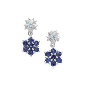 Daha Kyanite Earrings with Swiss Blue Topaz in Sterling Silver 1.45cts
