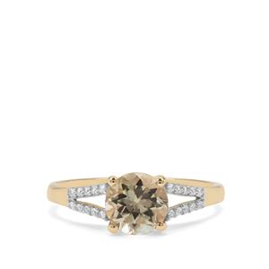 Csarite® Ring with White Zircon in 9K Gold 1.62cts