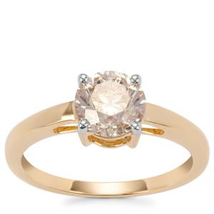 Natural Coloured Diamond Ring in 18K Gold 1.50ct
