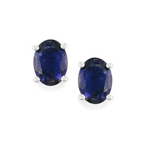Bengal Iolite Earrings in Sterling Silver 1.90cts