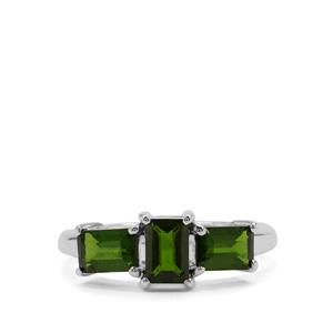 Chrome Diopside Ring in Sterling Silver 1.70cts