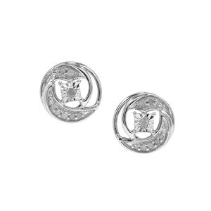 Diamond Earrings in Sterling Silver 0.15ct