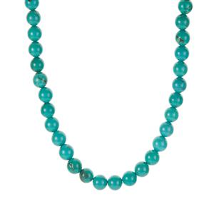 Green Howlite  Necklace in Sterling Silver 205.31cts