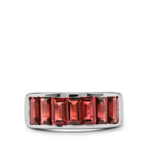 Rajasthan Garnet Ring in Sterling Silver 3.54cts