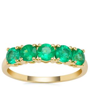 Ethiopian Emerald Ring in 9K Gold 1.26cts