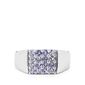Tanzanite Ring in Sterling Silver 1.14cts