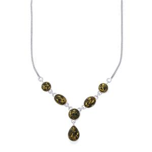 36ct Apache Gold Pyrite Sterling Silver Aryonna Necklace
