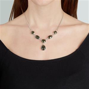 Apache Gold Pyrite Necklace in Sterling Silver 36cts