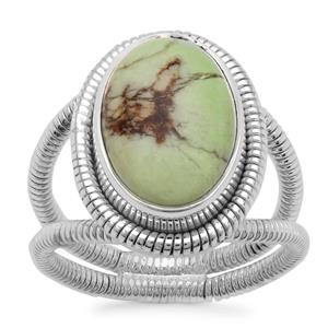 Queensland Chrysoprase Ring in Sterling Silver 6cts
