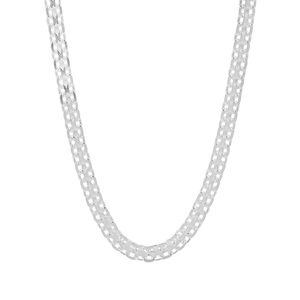 "22"" Sterling Silver Dettaglio Diamond Cut Bismark Chain 3.87g"