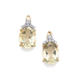 Serenite Earrings with Diamond in 18K Gold 3.50cts