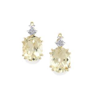 Serenite Earrings with Diamond in 9K Gold 4.80cts