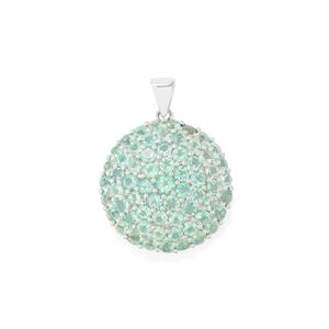 Madagascan Blue Apatite Pendant in Sterling Silver 7.95cts