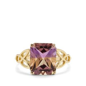 3.91ct Anahi Ametrine 9K Gold Ring