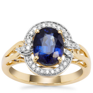 Nilamani Ring with Diamond in 18K Gold 2.51cts