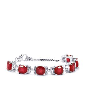 Malagasy Ruby Bracelet in Sterling Silver 29.50cts (F)