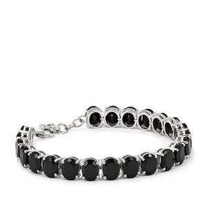 Black Spinel Bracelet in Sterling Silver 52.93cts