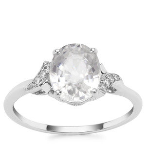 Ratanakiri Zircon Ring in 9K White Gold 3.09cts