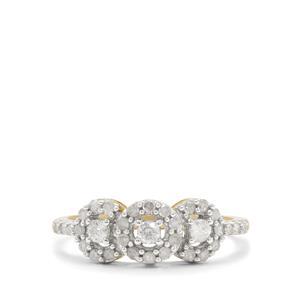 1/2ct GH Diamond 9K Gold Ring