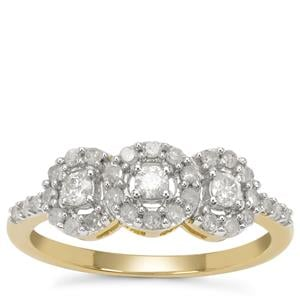 GH Diamond Ring in 9K Gold 0.51ct