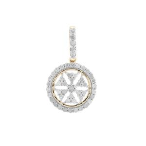 Diamond Pendant in 9K Gold 0.51ct