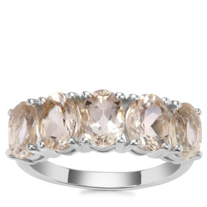 Champagne Danburite Ring in Sterling Silver 3.63cts
