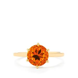Rio Golden Citrine Ring in 10k Gold 1.94cts