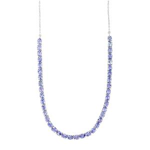 AA Tanzanite Necklace in Sterling Silver 12.29ct