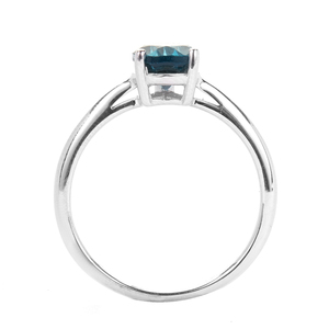Ceylonese London Blue Topaz Ring in Sterling Silver 1.30cts
