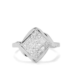 1ct Diamond 18K White Gold Tomas Rae Ring