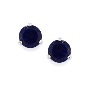 6.73ct Sar-i-Sang Lapis Lazuli Sterling Silver Earrings