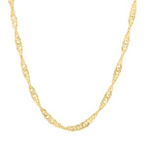 "18"" Midas Classico Diamond Cut Twisted Curb Chain 2.94g"